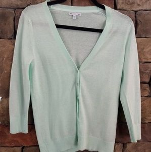 Gap mint green cardigan